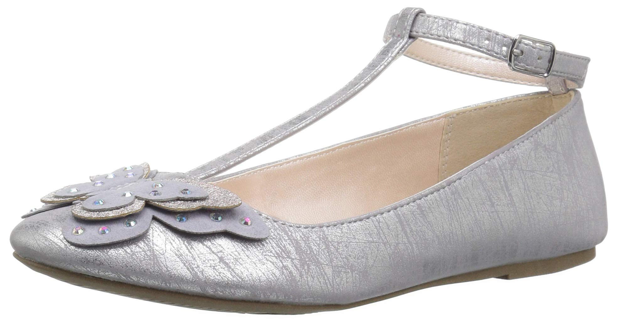 The Children's Place Girls' T-Strap Ballet Flats, Light Lavender, Youth 3 Child US Little Kid by The Children's Place (Image #1)
