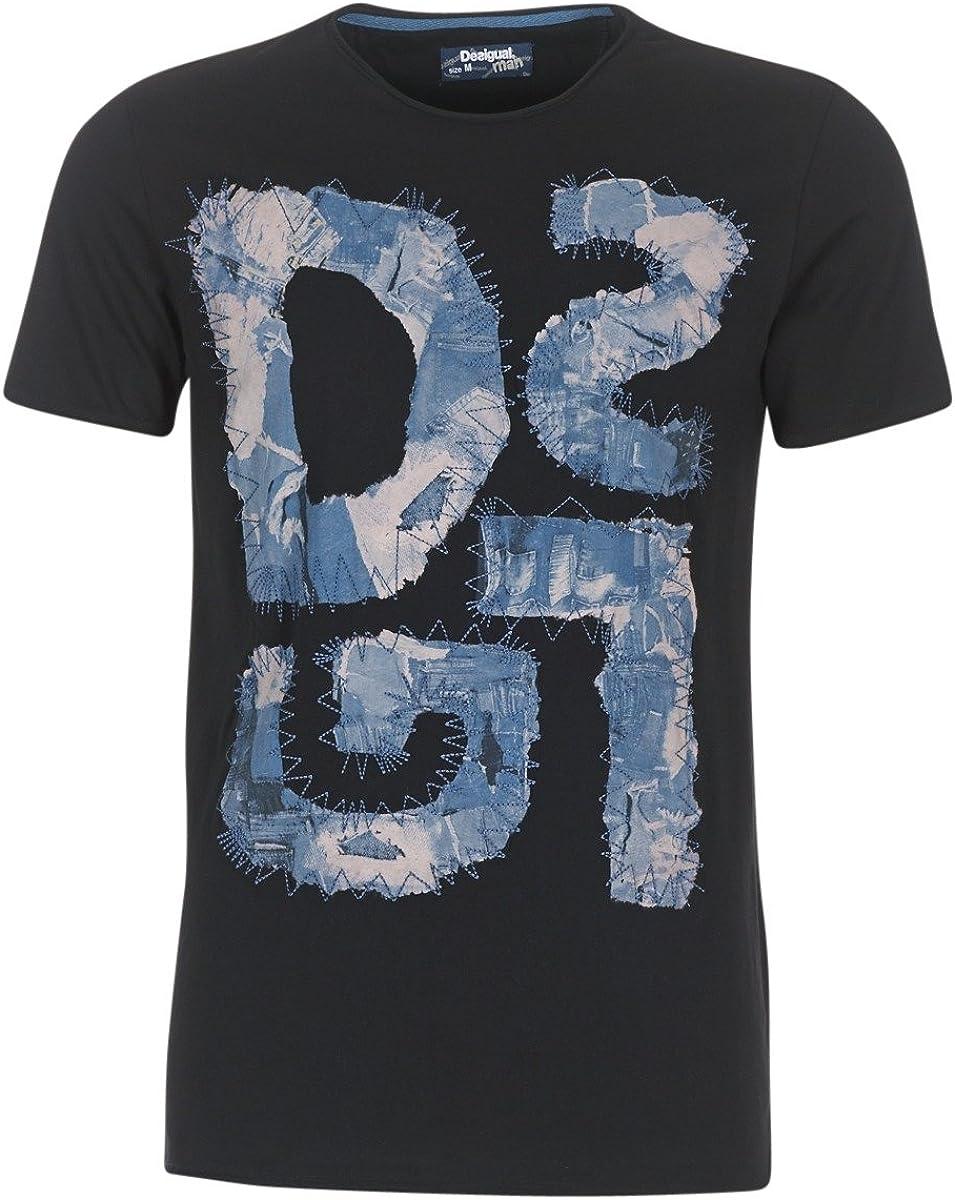 DESIGUAL POLALDE Tops y Camisetas Hombres Azul - M - Camisetas Manga Corta: Amazon.es: Ropa y accesorios