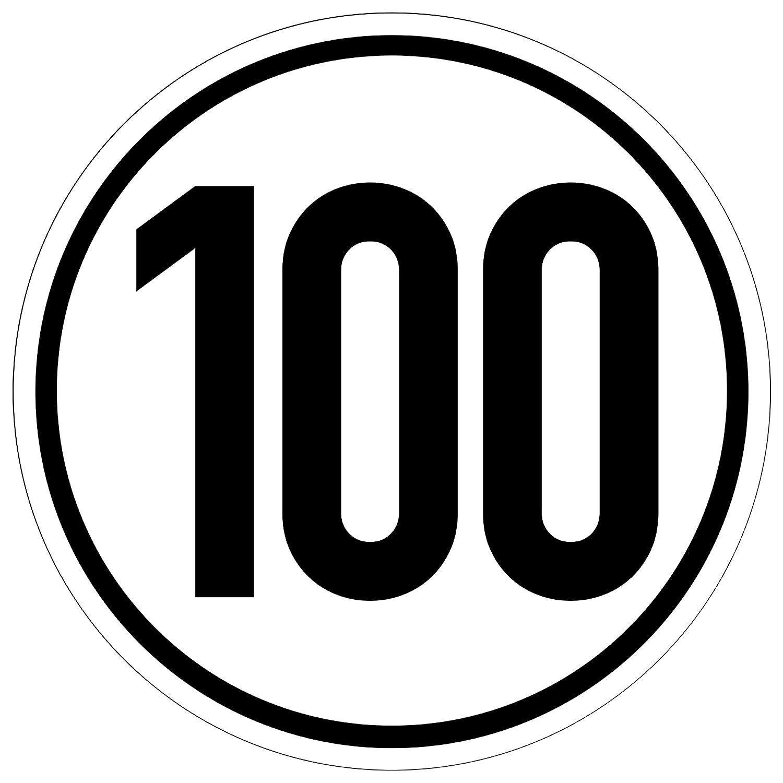 Kavaro 100 kmh Aufkleber fü r Anhä nger, Wohnwagen, usw. [20cm] nach Din 1451 Kavaro UG AP-001