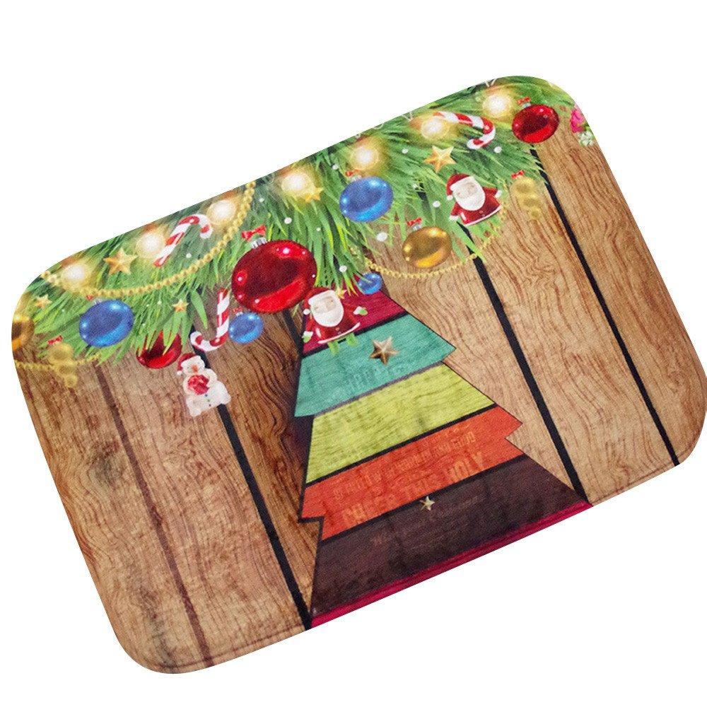 Amazon.com: Christmas Doormat Buedvo HD Printed Non-Slip ...