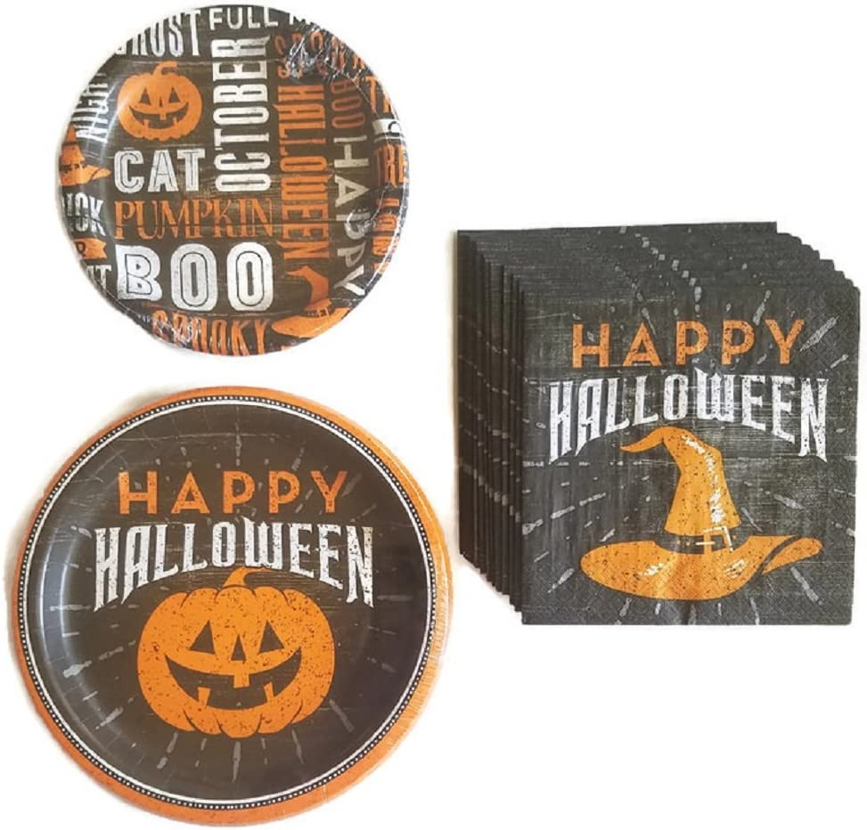 Halloween Paper Plates and Napkin Sets