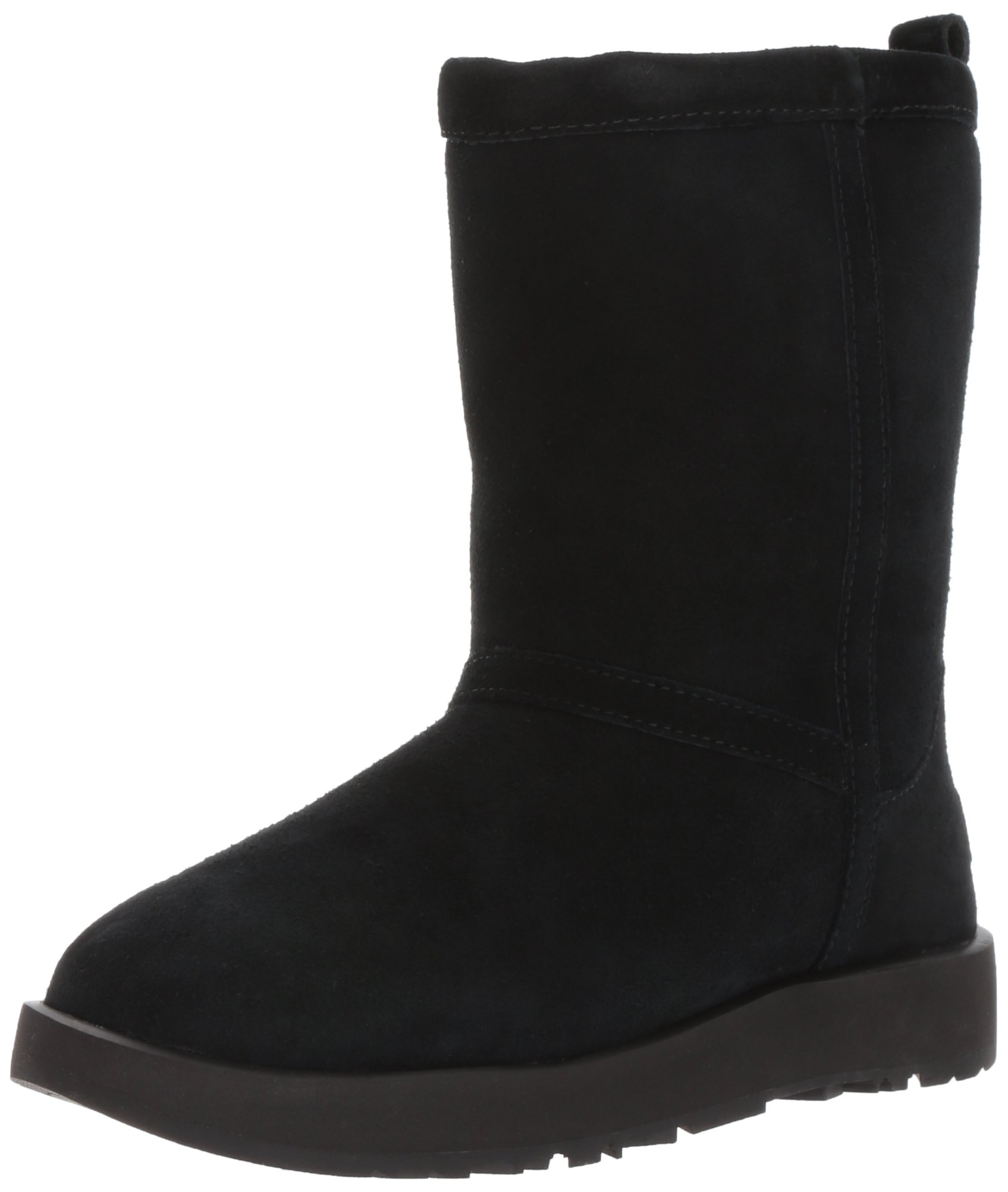 UGG Women's Classic Short Waterproof Snow Boot, Black, 9 M US