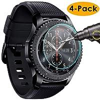Samsung Gear S3 Classic / Frontier Schutzfolie, [4 Stück] KIMILAR gehärtetem Glas Screen Protector für Samsung Gear S3 Frontier / Classic Smartwatch - High Definition und Anti-Luftblasen