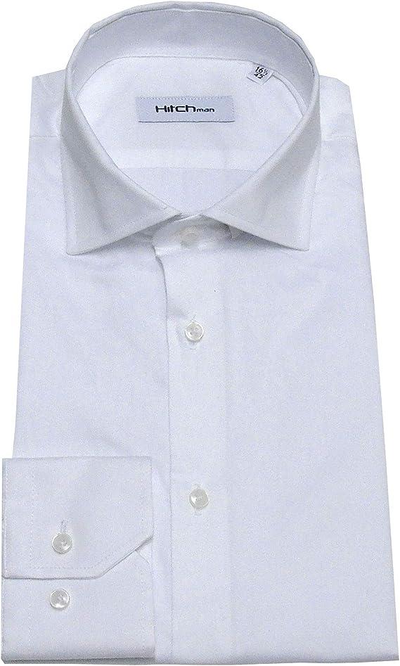Hitch Man Camisa de Hombre Cuello francés Slim Fit Azul Claro ...