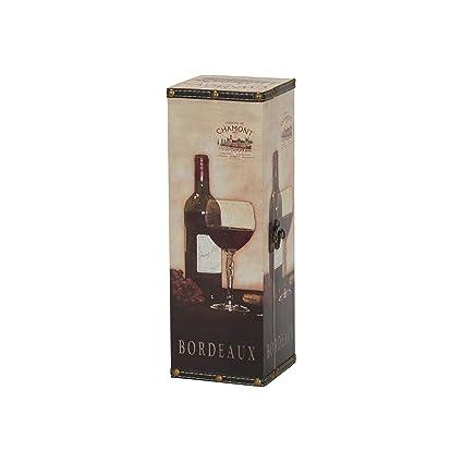 Household Essentials 9205 1 Decorative Horizontal Wine Caddy Gift Box Decor