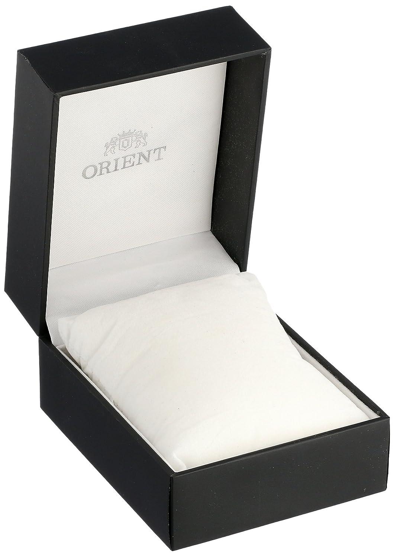 Orient 'Bambino Open Heart' japansk automatisk klocka i rostfritt stål och läder Svart