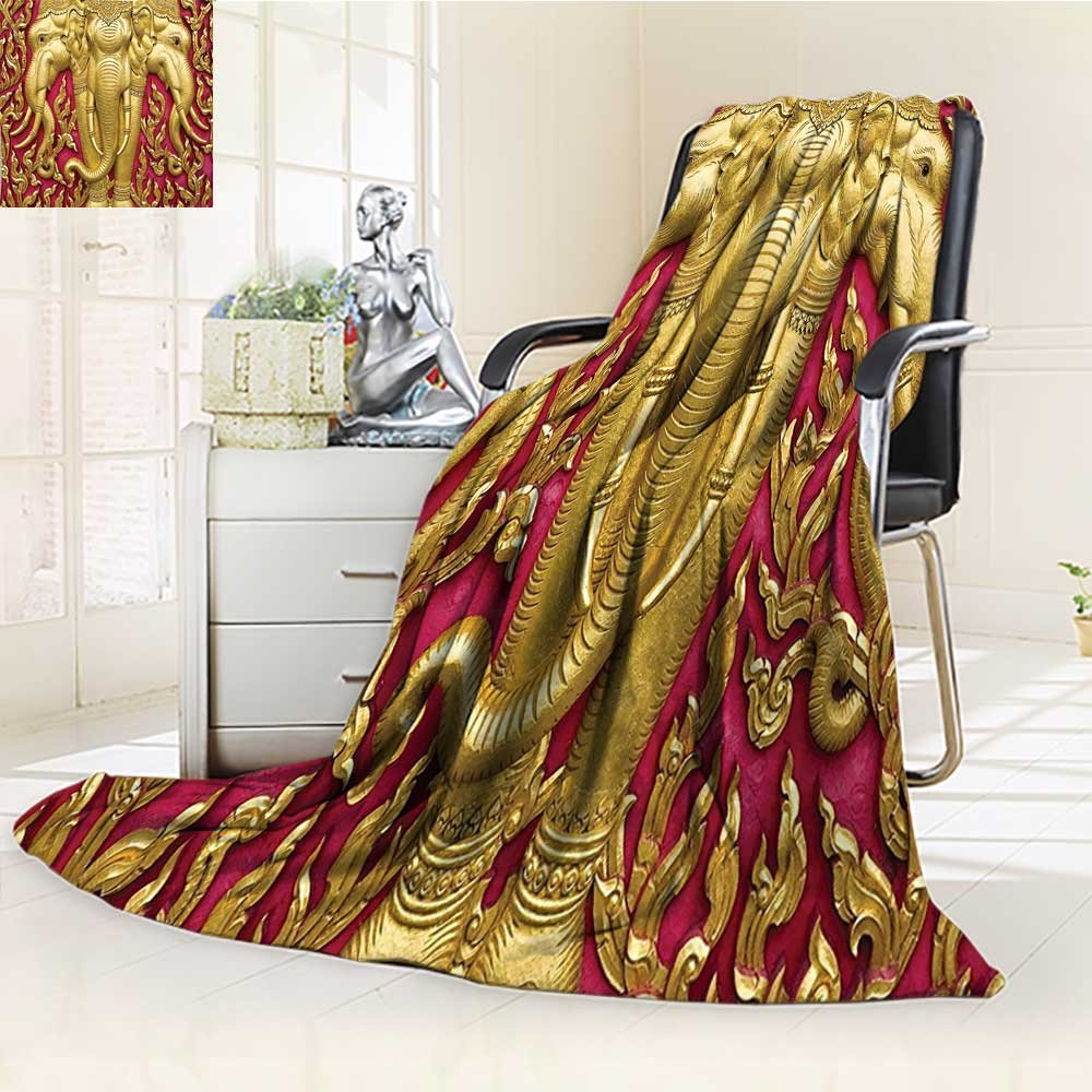 AmaPark Digital Printing Blanket Carved G Paint on Door Thai Temple Spirituality Statue Classic Gen Summer Quilt Comforter by AmaPark
