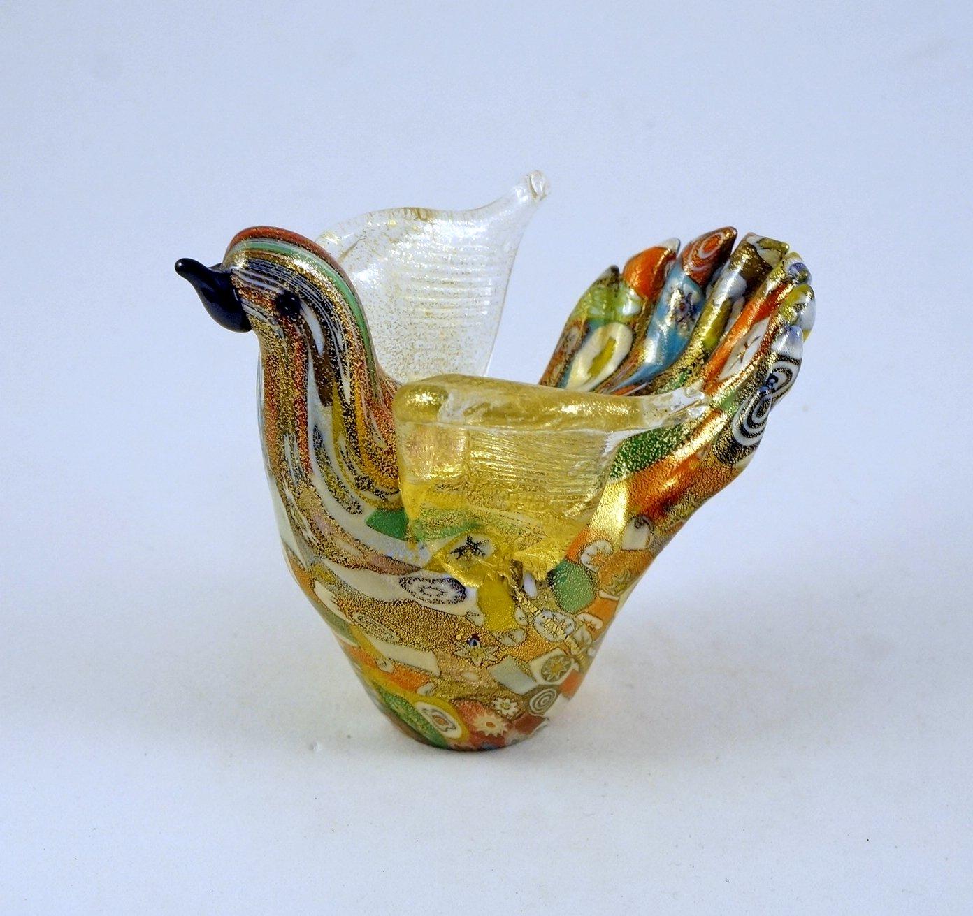 Amazon.com: Murano Glass Murrina Dove Bird Figurine Millefiori ...