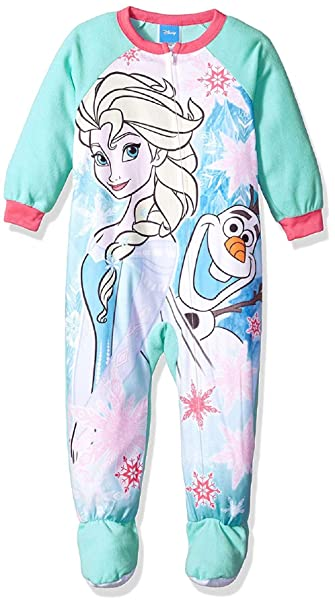 ff95b5357 Amazon.com  Frozen Micro Fleece Footed Pajama Toddler Girls (4T ...