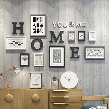 Rahmen Europäische Holz Bilderwand Bilderrahmen Galerie Schlafzimmer  Restaurant Wand Sammlung Haus Schwarz + Weiß