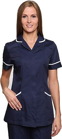 Nurses,Healthcare,Cleaner,Beauty Ladies Maroon//White Tunic