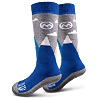 OutdoorMaster Kids Ski Socks - Merino Wool Breathable Blend, Over The Calf (OTC) with Non-Slip Cuff, Sizes 7-11.5 - 12-4 - for Boys and Girls (1 Pair or 2 Pair)