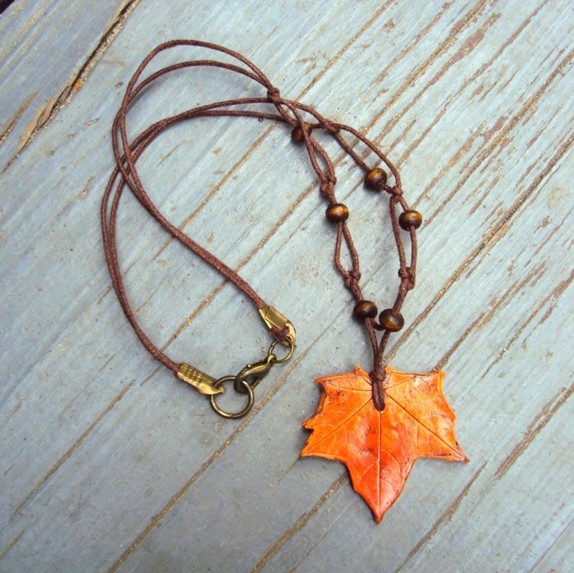 Changing Seasons Decay And Rebirth Cottagecore Minimalist Ode To Autumn Pendant Necklace With Real Dehydrated Leaves From Western Oregon