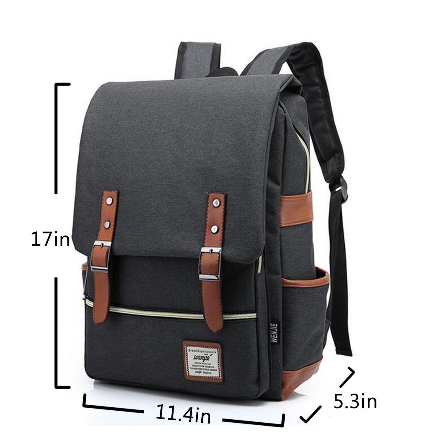679159963 Canvas Backpack - Lightweight Laptop Backpack, Vintage Travel Backpack with  Laptop Sleeve, Campus Backpack with Side Pockets Canvas Rucksack for School  ...