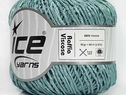 Amazon com: Lot of 6 Skeins ICE Raffia Viscose (100% Viscose