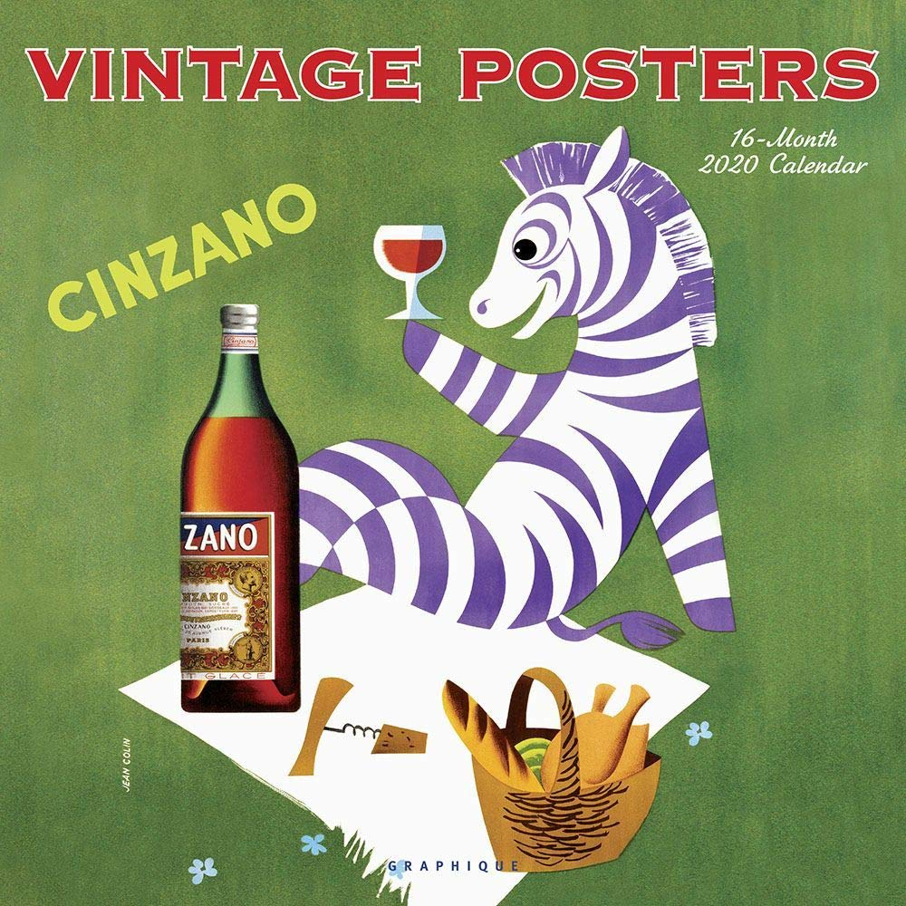 Vintage Posters 2020 Square Wall Calendar