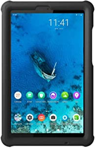 MingShore Rugged Case for Lenovo Tab M8 HD/Tab M8 FHD/Smart Tab M8, Kid Friendly Silicone Bumper Heavy Duty Protective Cover for TB-8505F TB-8505X TB-8505FS TB-8705F 8 inch Tablet (Black)