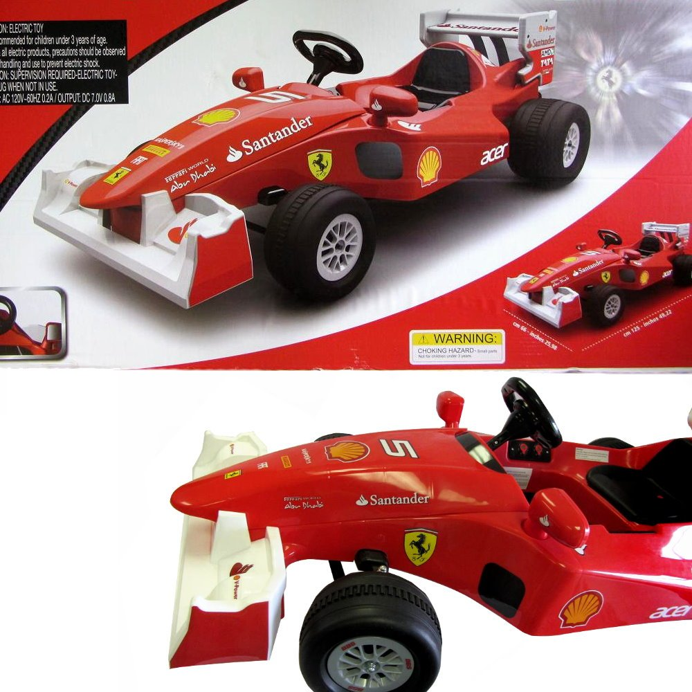 amazoncom new kids ferrari formula 1 f1 electric racing car ride on car outdoor battery operated kids ride on toys games