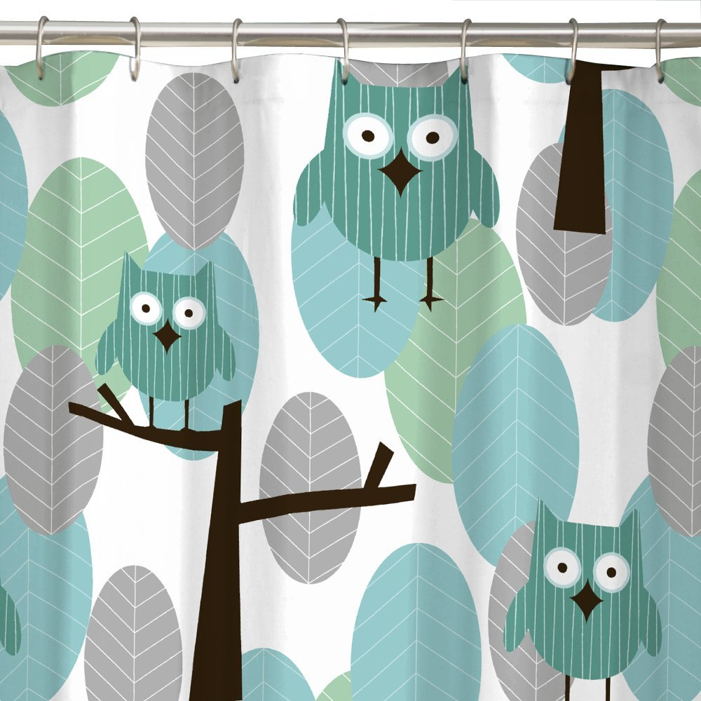 Amazon.com: Maytex Owl Fabric Shower Curtain: Home & Kitchen