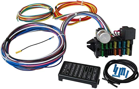 [DIAGRAM_38IU]  Amazon.com: ay-autoparts 12 Circuit Universal Wiring Harness Muscle Car Hot  Rod Street Rod XL Wires: Automotive | 12 Circuit Universal Wiring Harness |  | Amazon.com