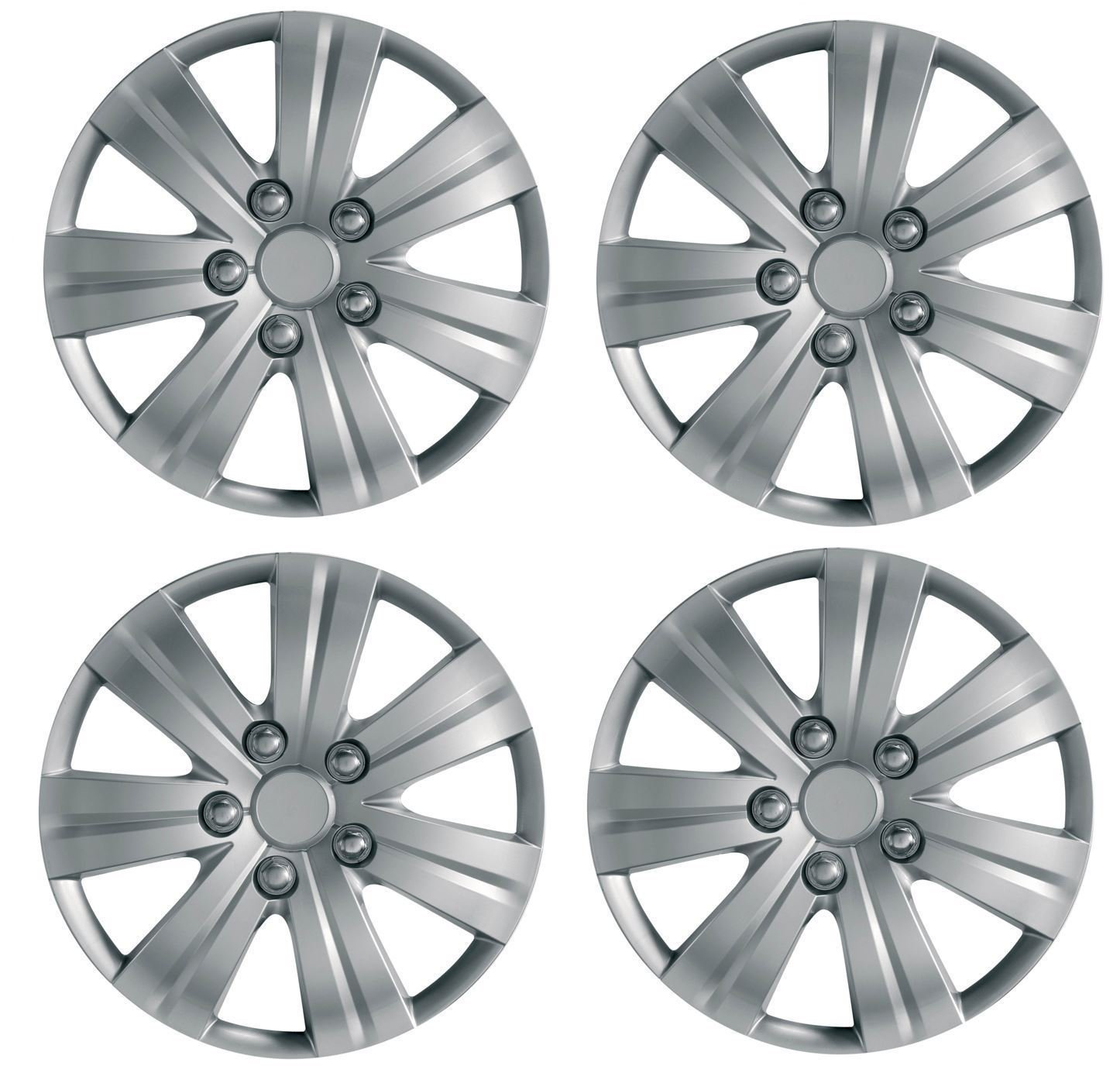 UKB4C 4 x Wheel Trims Hub Caps 16' Covers fits Vauxhall Astra H Meriva B Zafira