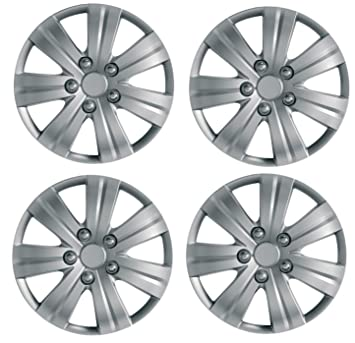 "UKB4C Set of 4 Wheel Trims Hub Caps 15"" Covers fits Renault Clio Megane Scenic"