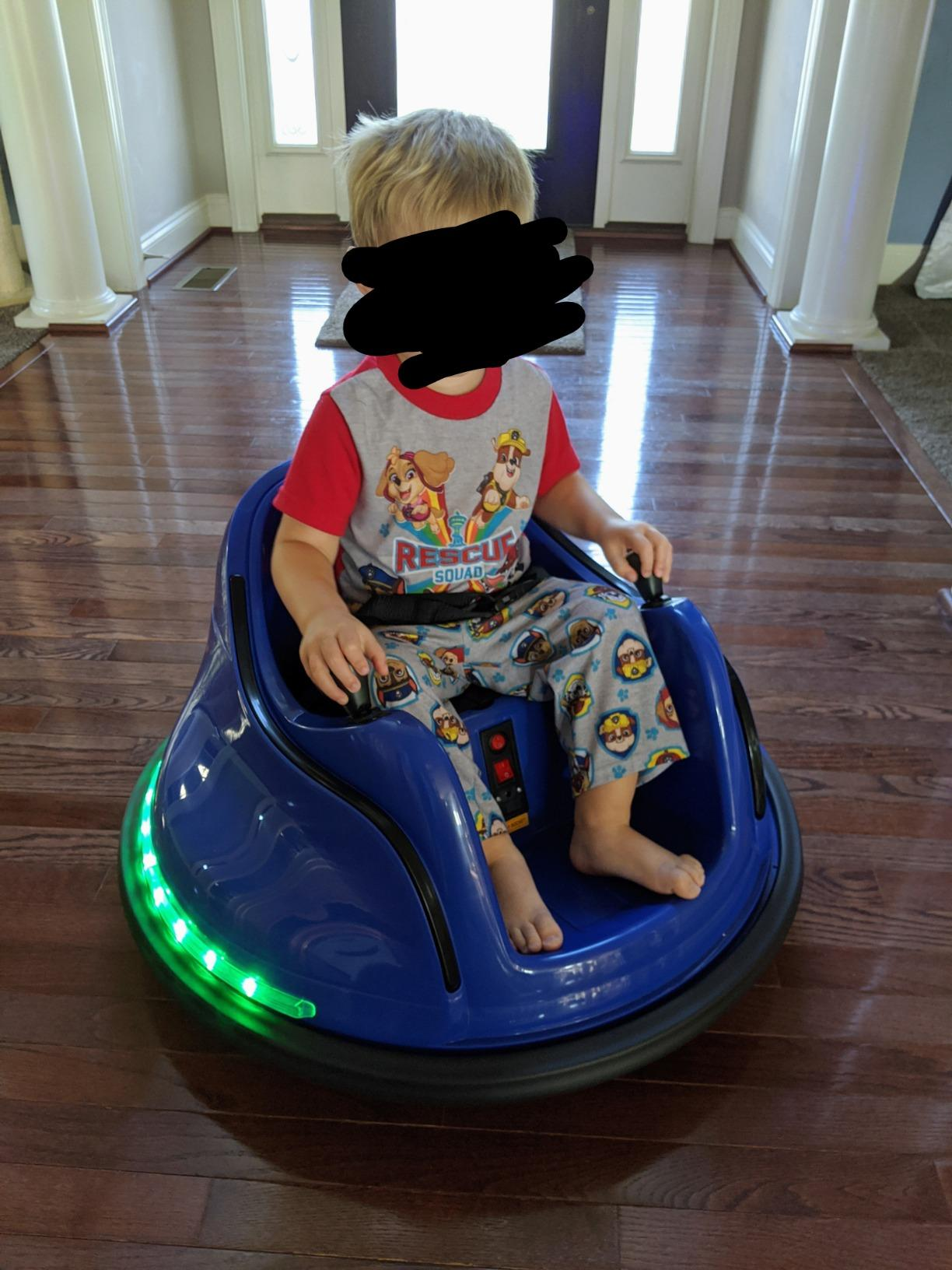 6V Electric Baby Bumper Car with Remote Control, Dark Blue photo review