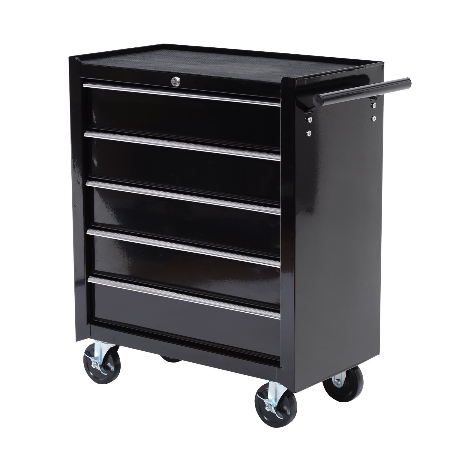 HomCom 24'' Rolling Tool Cabinet Garage Cart with 5 Sliding Drawers by HOMCOM