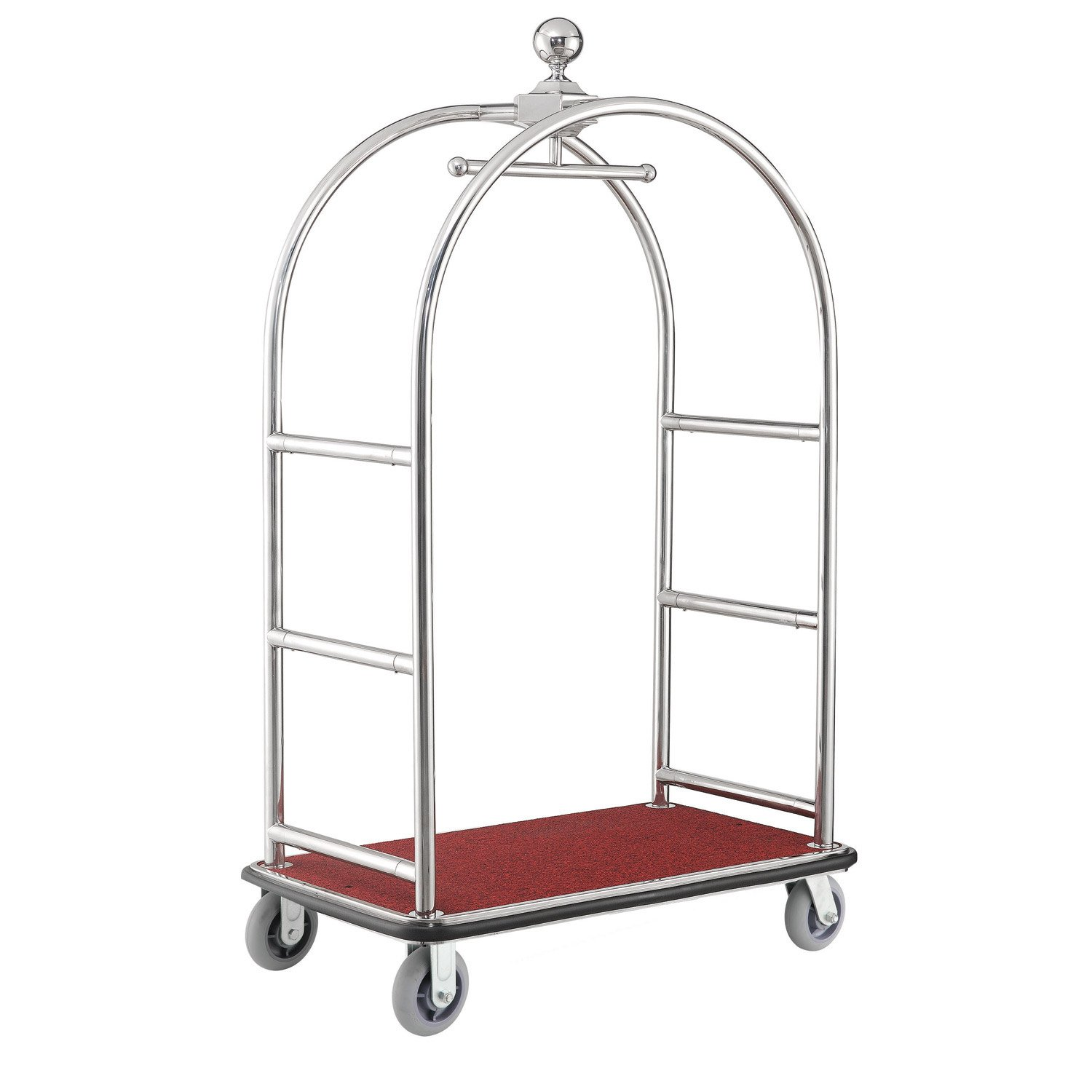 448314c67a64 Amazon.com : Silver Stainless Steel Bellman Cart Curved Uprights 6 ...