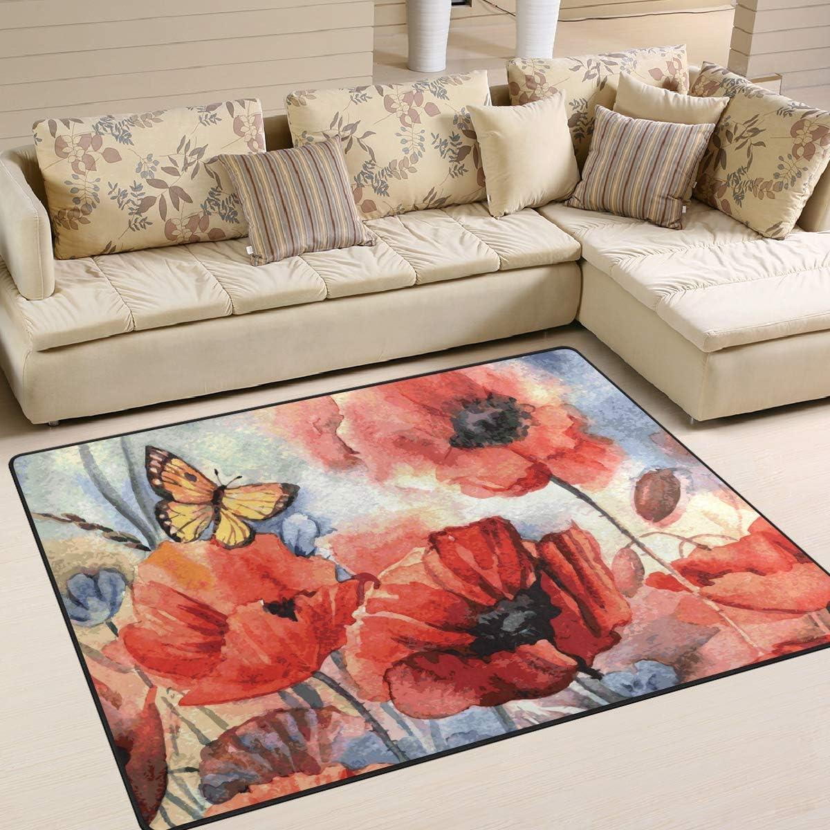 2 x 3 ft Naanle Cat Oil Painting Cat Non Slip Area Rug for Living Dinning Room Bedroom Kitchen 60 x 90 cm Animal Cat Nursery Rug Floor Carpet Yoga Mat