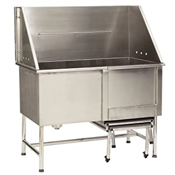 Master Equipment Stainless Steel Superior Pet Tub, Left Plumbed, 48 Inch