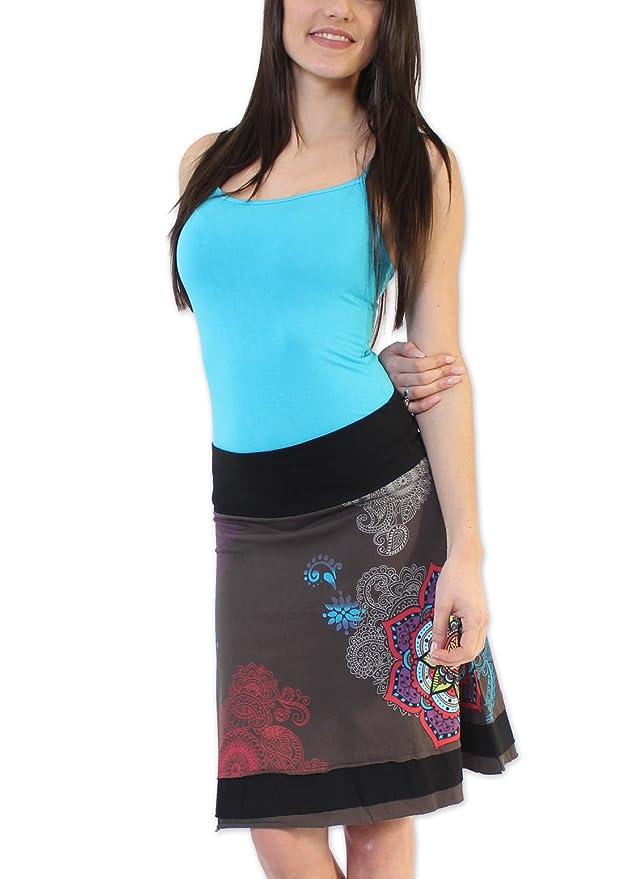Coton du Monde-Falda FLAVY, Color Gris Multicolor 38: Amazon.es ...