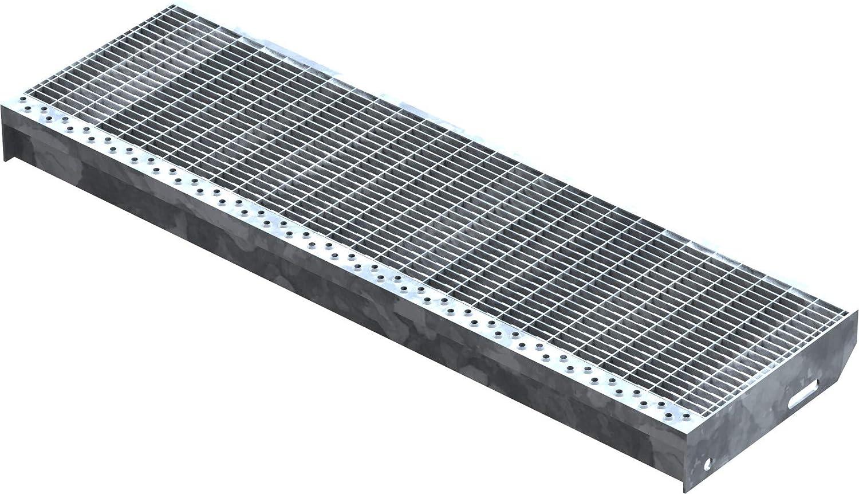 Marche perfor/ée Acier XSL Dimensions : 600 x 240 mm Galvanisation conforme /à la norme DIN Fenau R11 Maillage: 30//10 mm Adapt/é aux escaliers de secours