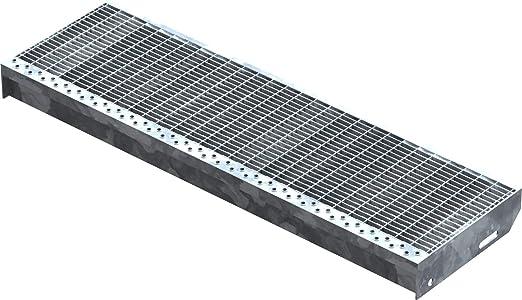 Maschenweite 30 x 30 Gitterroststufe rutschhemmende Sicherheitsantrittskante Tragstab 20//1,5mm 900 x 240mm