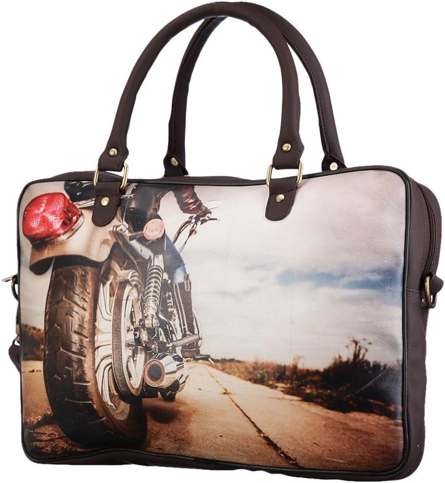 Brandvilla Womens Zoe Bike 15 Inch Expandable Laptop Backpack Big Brown
