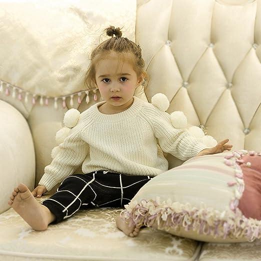 c02a872d9 La Vogue Jersey Suéter Niña Invierno Con Bolas Pulóver Blanco  Amazon.es   Ropa y accesorios