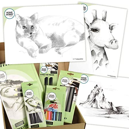 HomeHobby by - Kit de estudio de dibujo (3 L, talla única), diseño ...