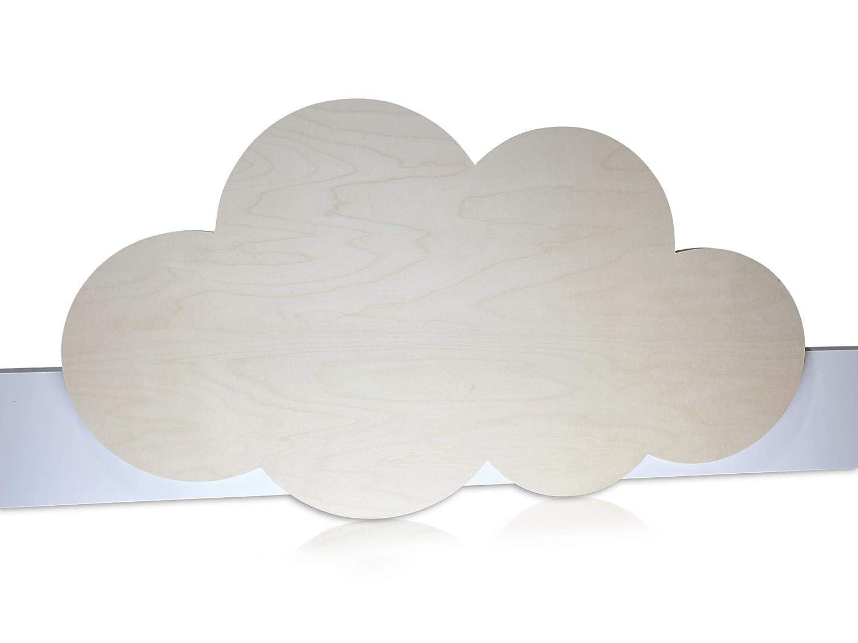 Motiv: Wolke aus Holz Herausfallschutz handgefertigt in Deutschland aus Holz Kinder Bettgitter modernes Design