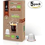 King Cup - Café orgánico & Fairtrade - 100% Arábica mono origen - 5 paquetes de 10 Cápsulas Biodegradables Nespresso®* (50 Cápsulas)