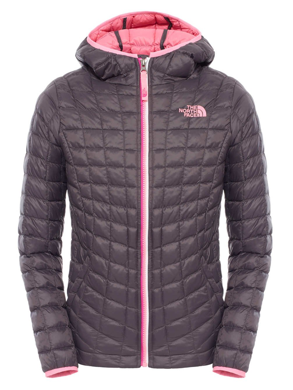 The North Face Thermoball Hoodie Girls Graphite Grey XL18 by The North Face