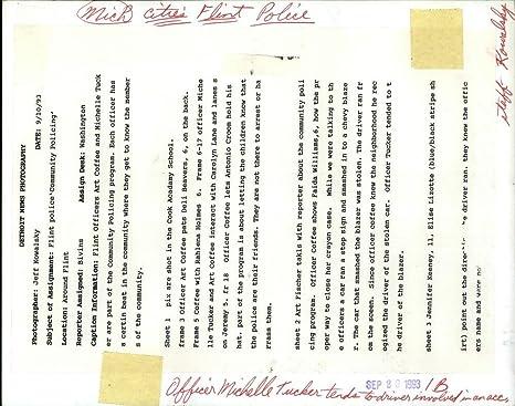 1993 prensa fotos Michelle Tucker Flint Policía de la ciudad – rrv74531: Amazon.es: Hogar