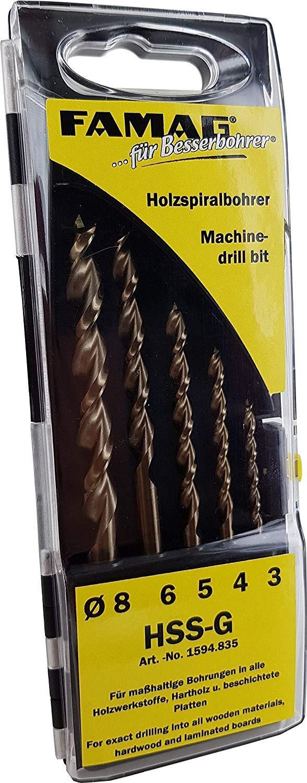 Our shop OFFers the best service Famag 1594835 Twist Drill Bit Set Diameter 3-8 Pieces Recommendation 5 HSS-G