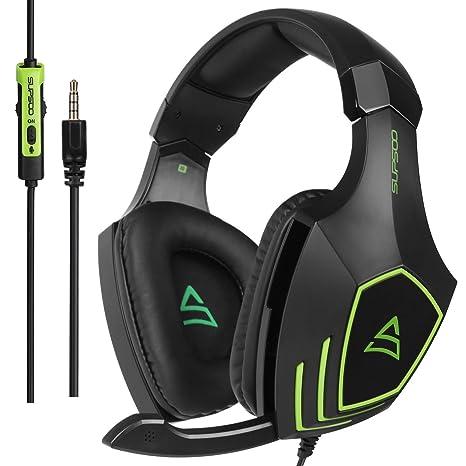 SUPSOO G820 Xbox One PS4 Estéreo Juego Auriculares Bass Gaming Headsets con micrófono de aislamiento de