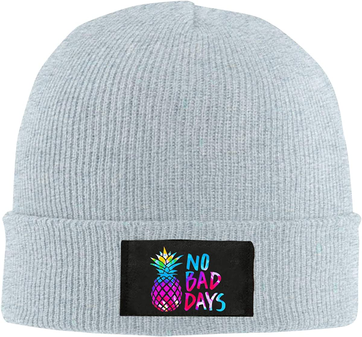 Unisex No Bad Days Tie Dye Pineapple Knitted Hat 100/% Acrylic Trendy Beanies Cap