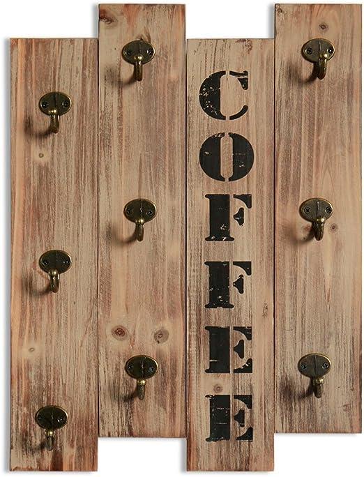 Amazon.com: Xing Cheng - Soporte de pared rústico para tazas ...