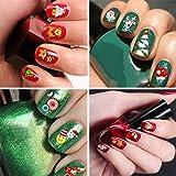 Fanme Christmas Nail Stickers 3D Nail Art Tattoo