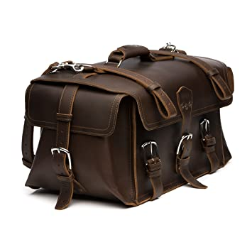 Saddleback Leather Co. Large Side Pocket Full Grain Leather Versatile Duffle  Bag for Travel Includes 218752d691