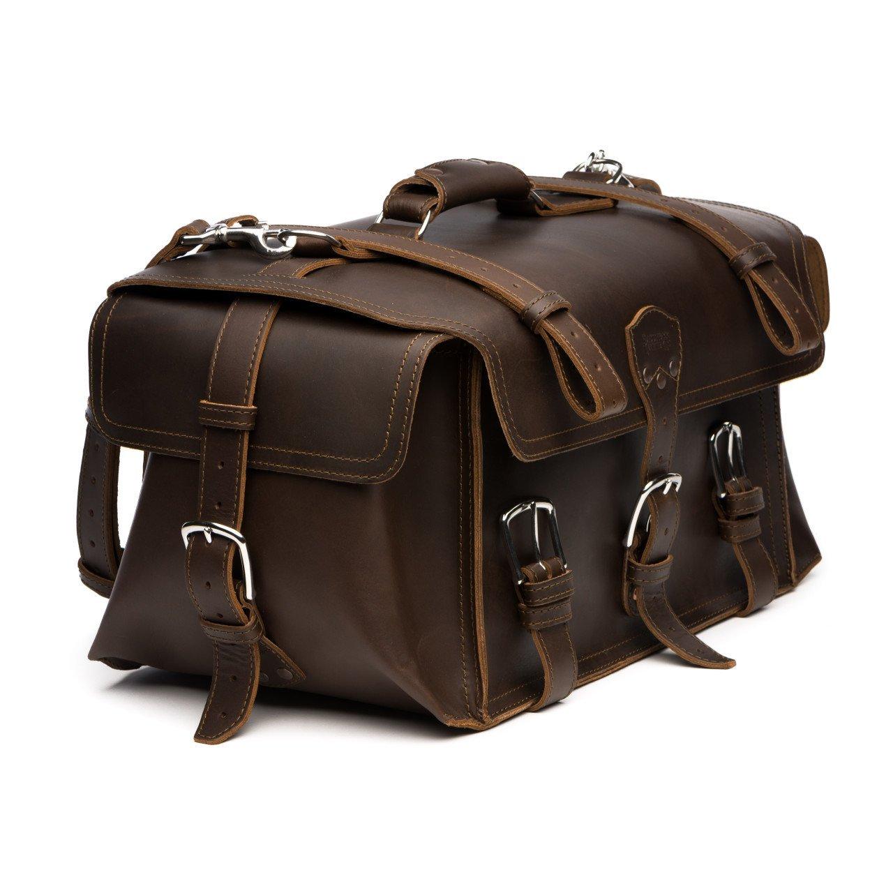 Saddleback Leather Side Pocket Duffel - Best Carry On, Travel Duffel Bag - 100 Year Warranty