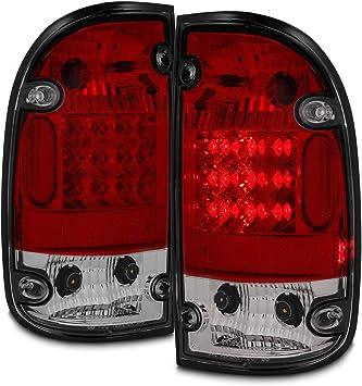 Fits 95-00 Toyota Tacoma Pickup Truck Smoked Smoke Rear Tail Lights Brake Lamps