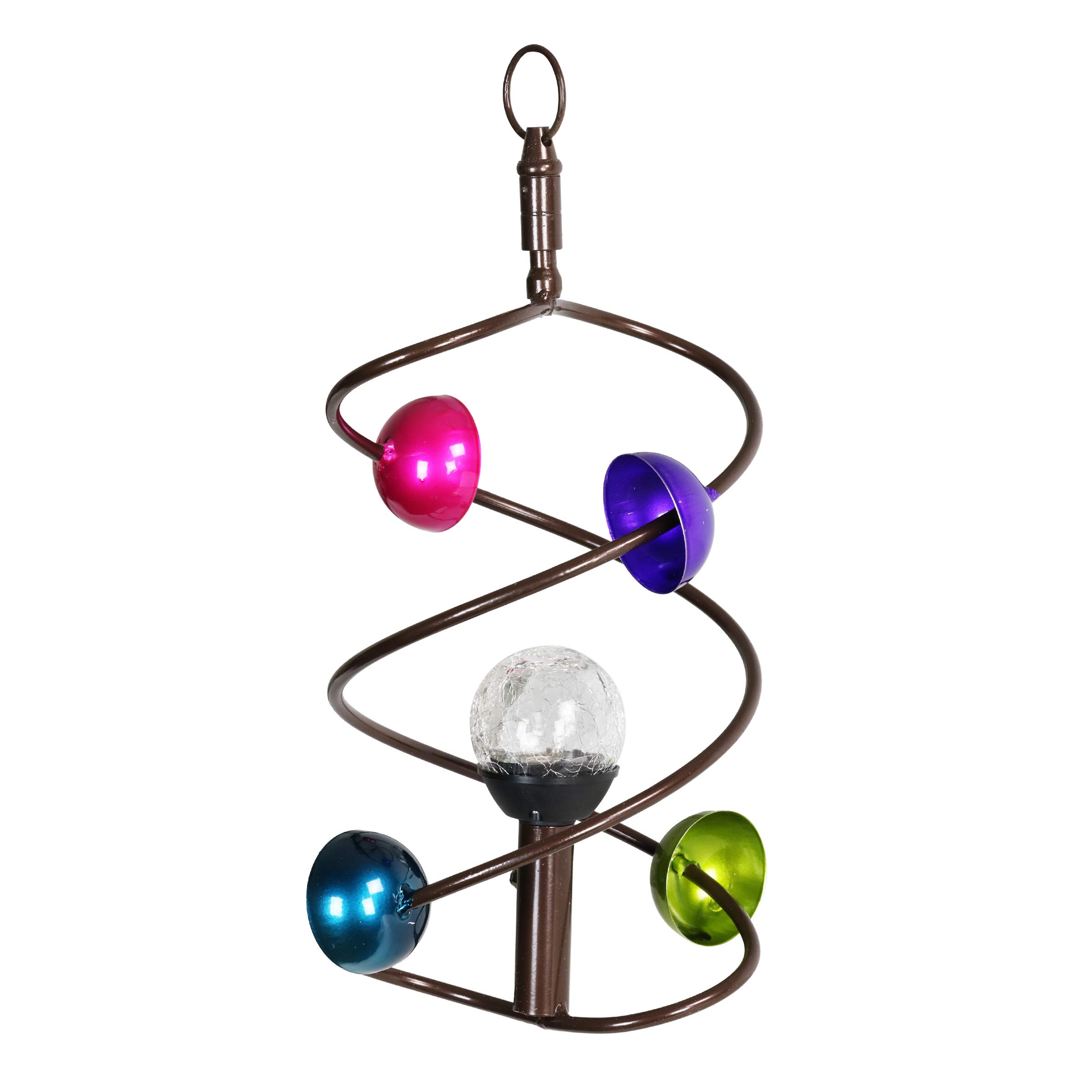 Solar Art-in-Motion Helix Twirler, Hanging Decor, Elegant Spinner, Spiral Ball Mobile, Home/Indoor / Outdoor Decoration